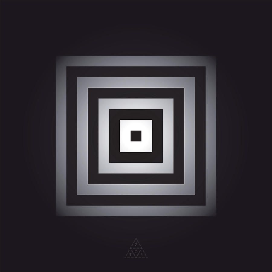 Optical Digital Art - Square Pulse V15.1 by Guardians of the Future