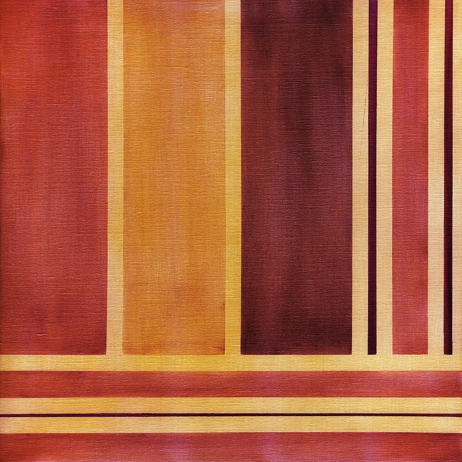 Oil Painting - Square With Lines 2 by Hakon Soreide