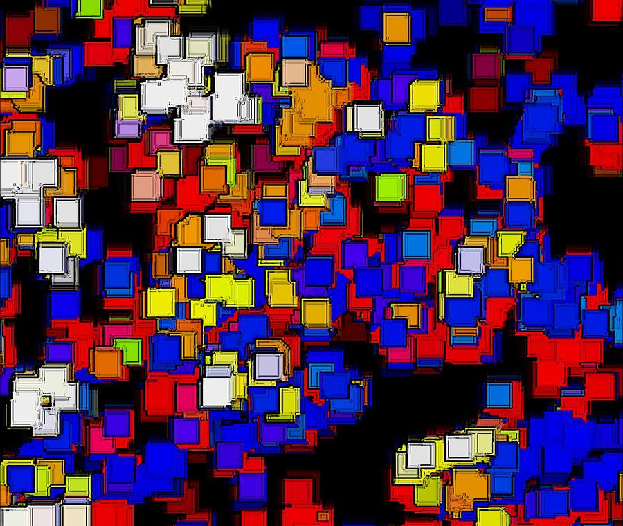 Abstract Digital Art - Squares Selection Number 2 by Rod Saavedra-Ferrere