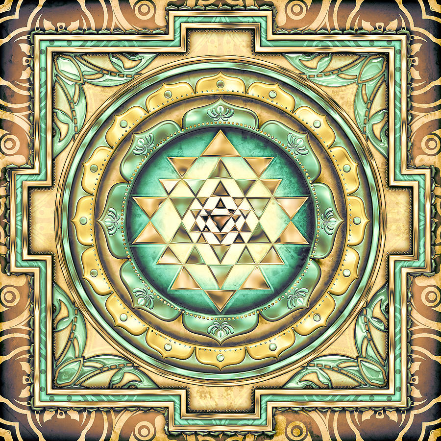 Sri Yantra 3 by Sampad Art