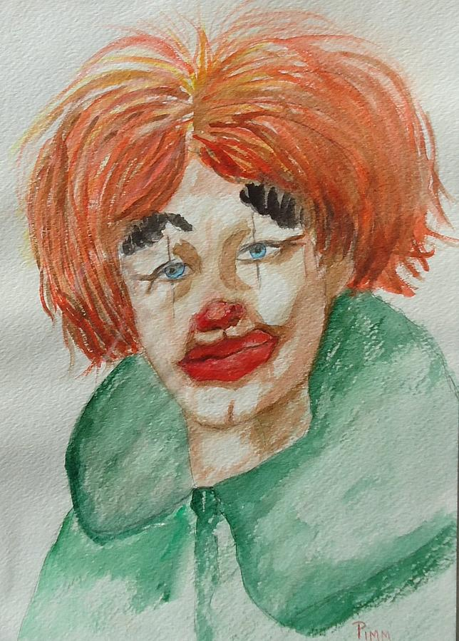 Clown Face Painting - Ssend In The Clown by Betty Pimm