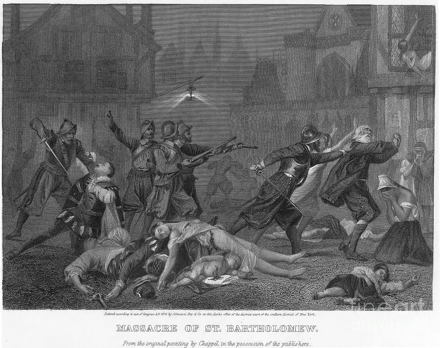 1572 Photograph - St Bartholomews Massacre by Granger