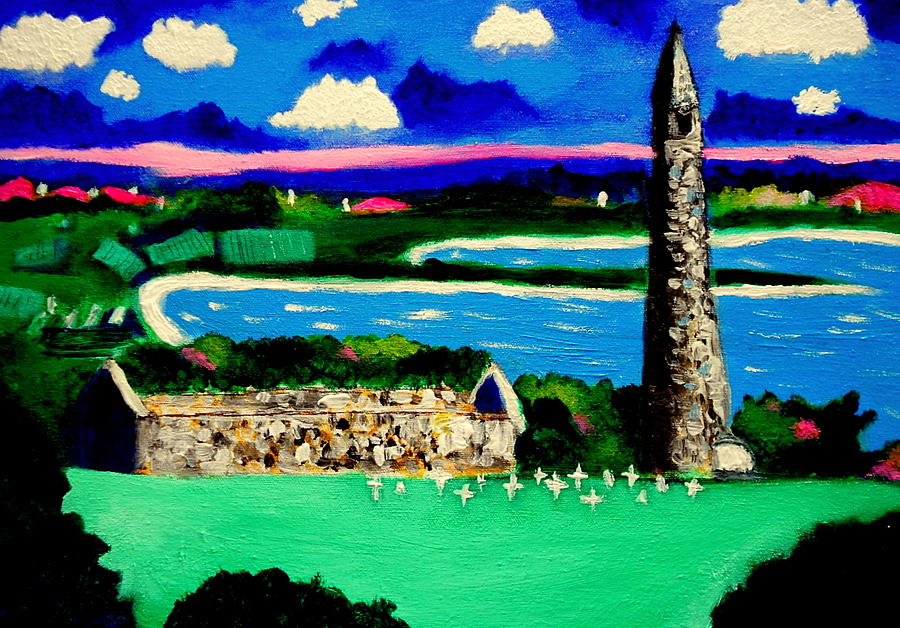 St Declans Church Ireland Painting by Ted Hebbler