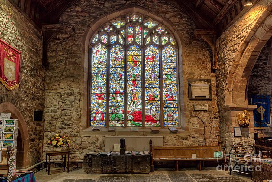 Architecture Photograph - St Dyfnog by Adrian Evans
