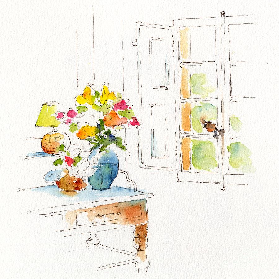 Window Painting - St. Emilion Dans La Matinee by Pat Katz