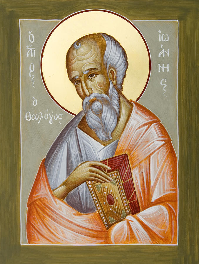 St John The Theologia Painting - St John The Theologian by Julia Bridget Hayes