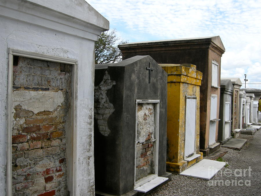 Cemetery Photograph - St. Louis 1 by Victoria Lakes