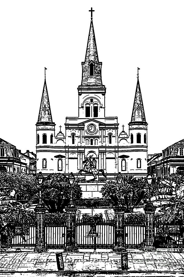 st louis cathedral on jackson square in the french quarter new