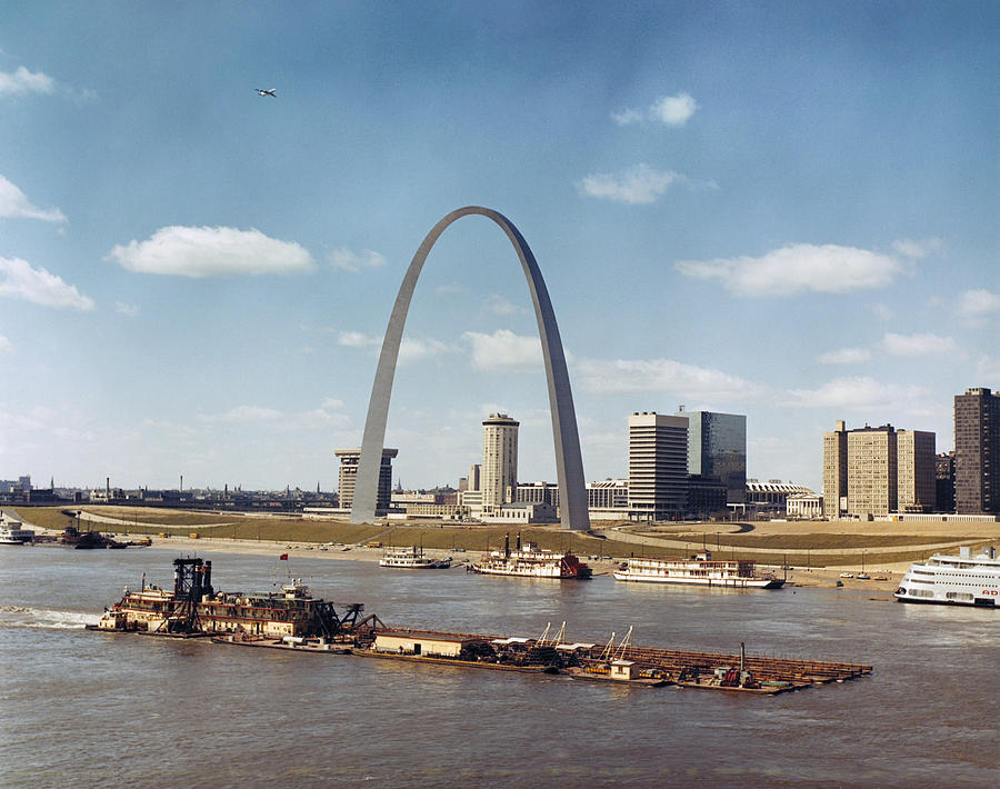 1973 Photograph - St. Louis: Waterfront by Granger