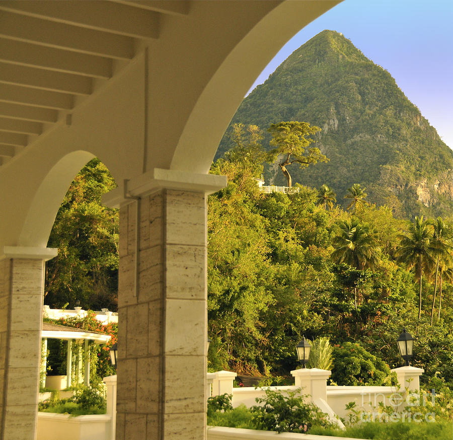St. Lucia Photograph - St. Lucia Mountain View by Cindy Lee Longhini