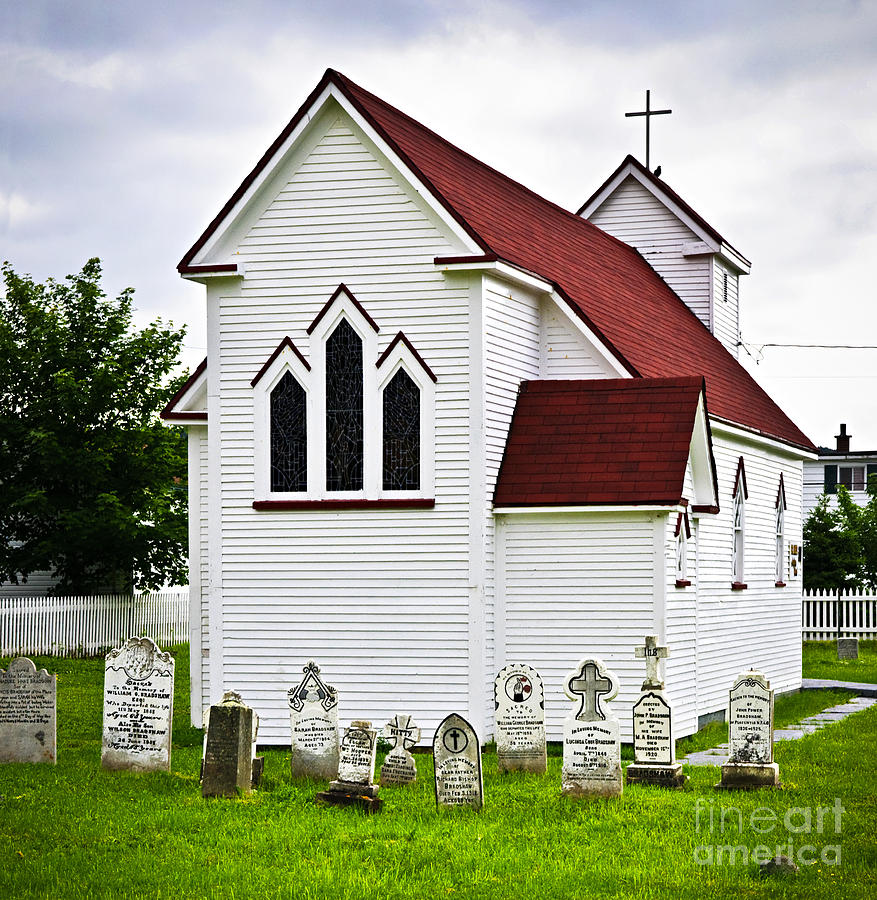 Placentia Photograph - St. Lukes Church And Cemetery In Placentia by Elena Elisseeva