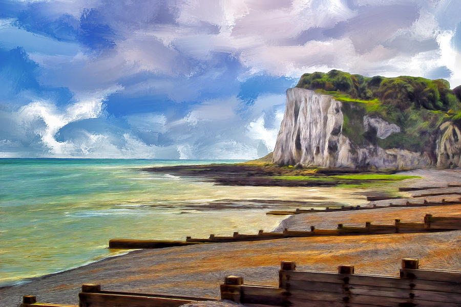 St. Margaret Painting - St. Margarets Bay At Dover by Dominic Piperata