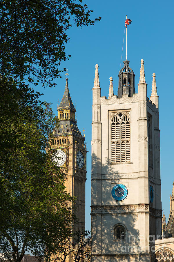 Big Ben Photograph - St Margarets Church Westminster  by Andrew  Michael