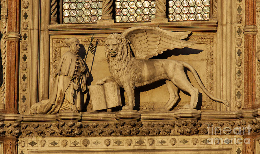 Winged Lion Photograph - St. Mark The Winged Lion by Chris Hill