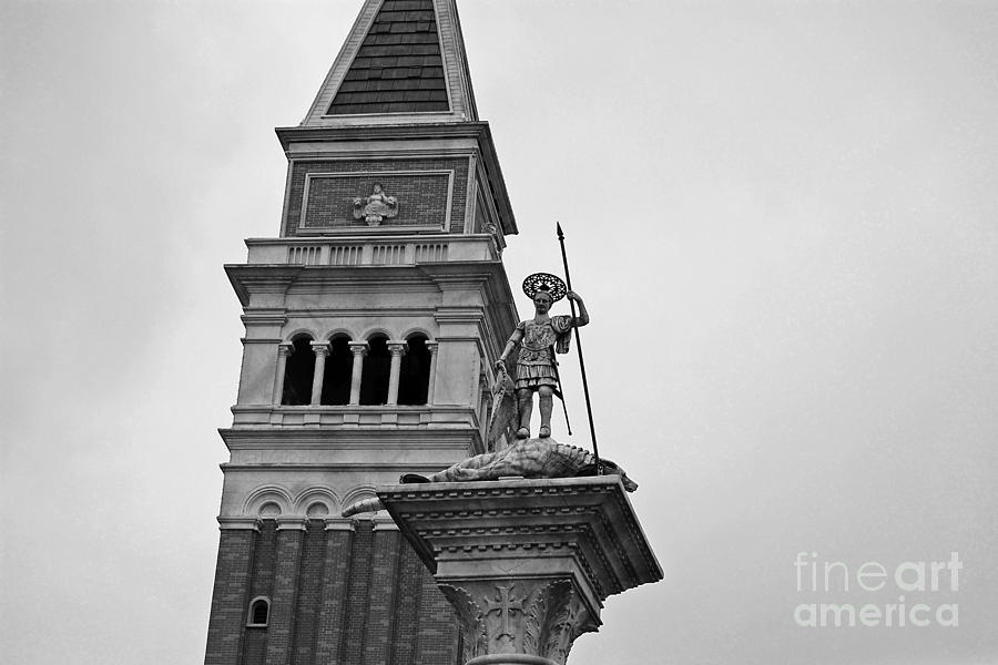Epcot photograph st marks bell tower and statue italy pavilion epcot walt disney world prints