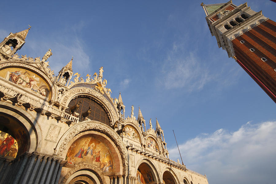 Arch Photograph - St. Markss Basilica And Campanile Off by Trish Punch