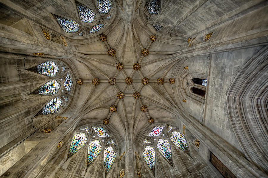 Architecture Photograph - St Marys Ceiling by Adrian Evans