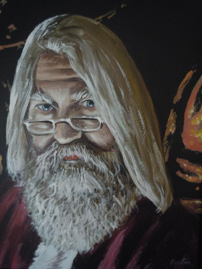 St Nick Relaxing Painting by James Guentner
