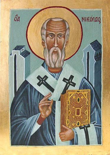St. Nicolas Painting - St. Nicolas  by Karolina Wicha