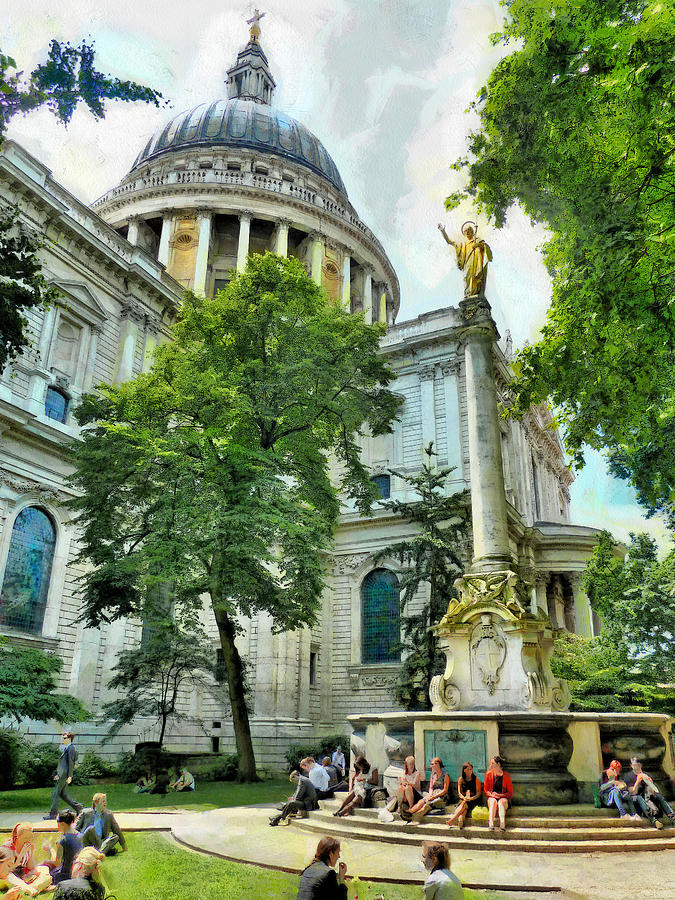 Blended Photograph - St Paul Is Giving His Blessing by Steve Taylor
