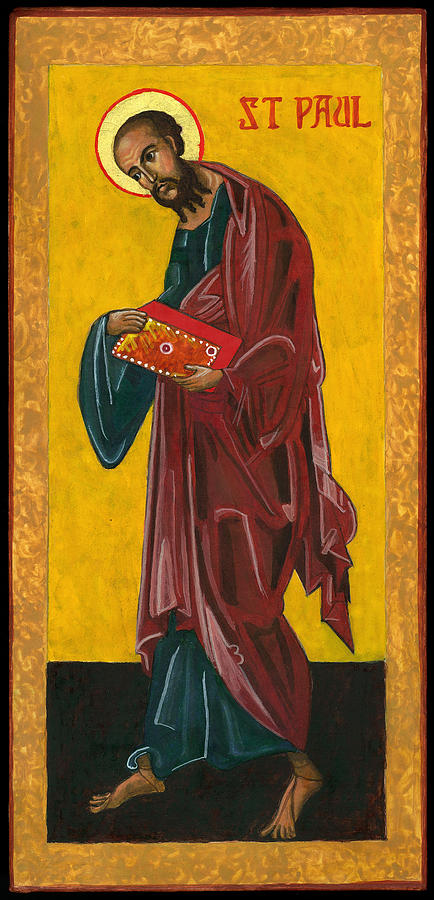 Icon Painting - St Paul by Jennifer Richard-Morrow