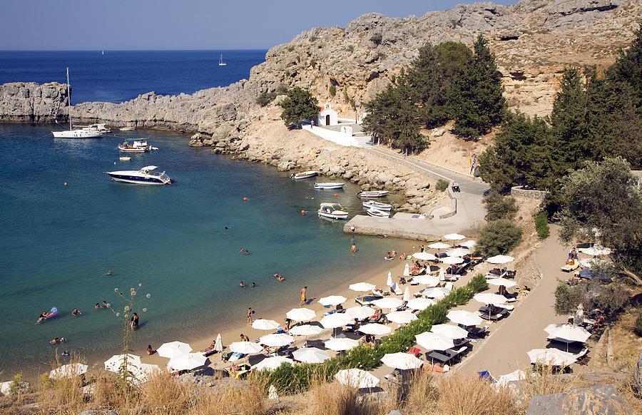 St Pauls Bay Agios Pavlos Lindos Rhodes Greece Photograph ...