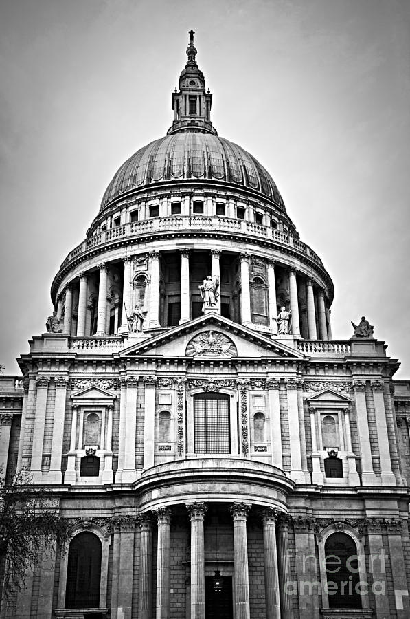 Saint Photograph - St. Pauls Cathedral In London by Elena Elisseeva