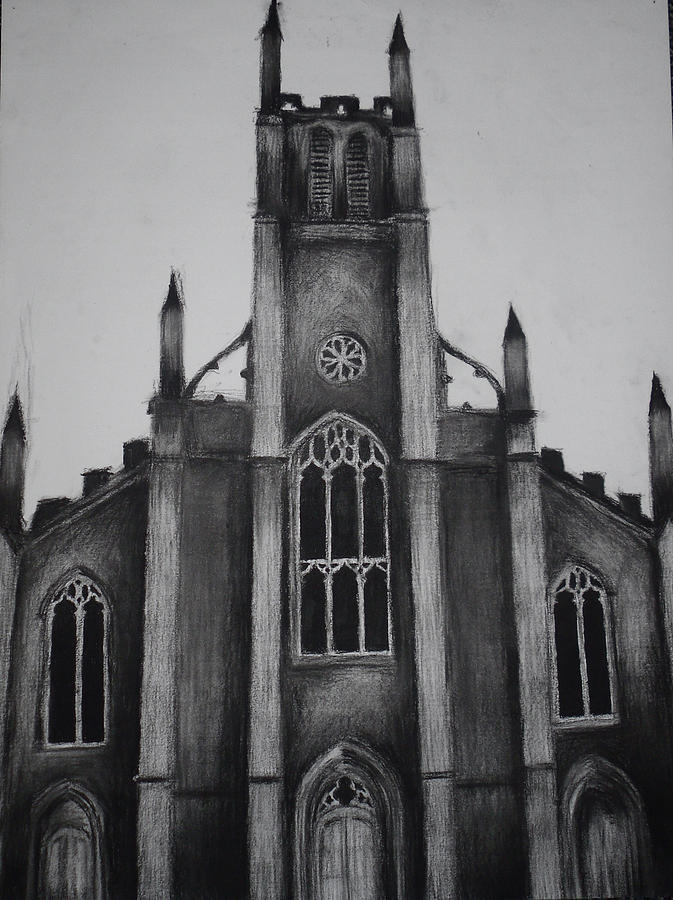 St Peters Church 2 Drawing By James Falciano