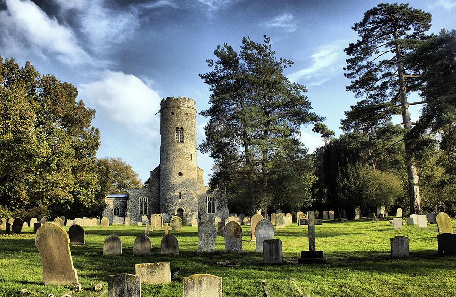 English Church Photograph - St Peters Church Forncett Norfolk England by Darren Burroughs