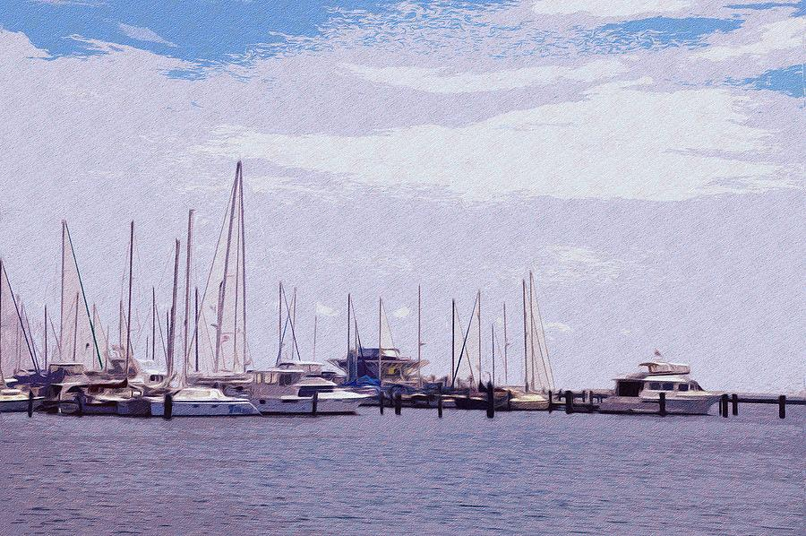 St. Petersburg Photograph - St. Petersburg Marina by Bill Cannon