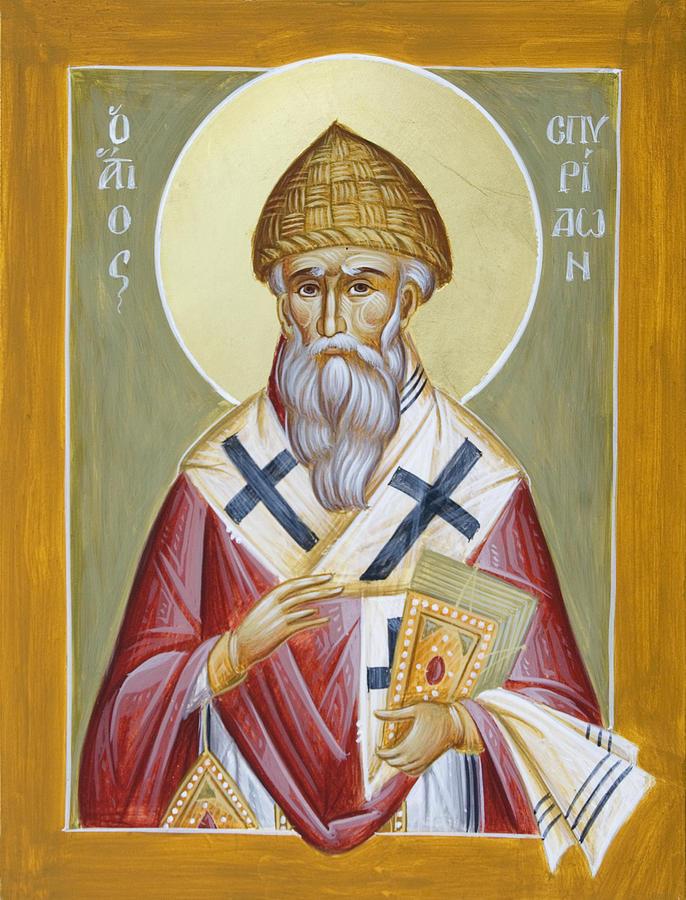 Icon Painting - St Spyridon by Julia Bridget Hayes