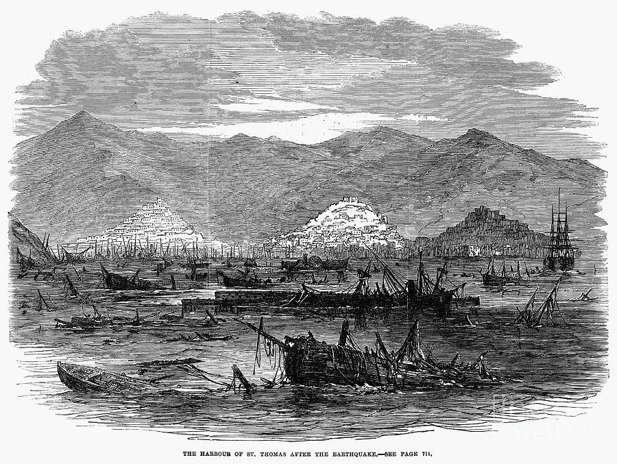 1867 Photograph - St. Thomas: Earthquake by Granger