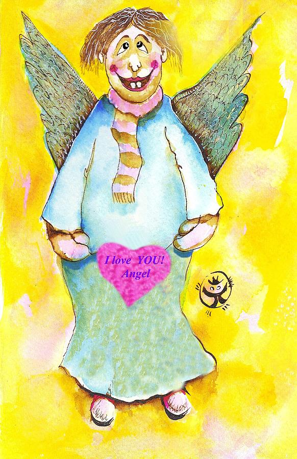 St. Valentine Painting - St. Valentines Angel by Ion vincent DAnu