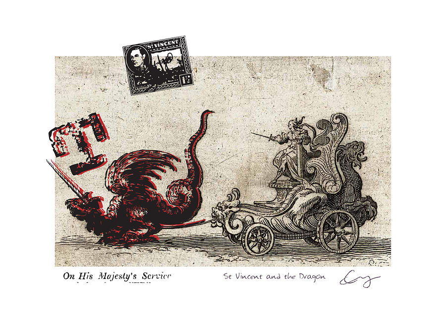 17th Mixed Media - St Vincent And The Dragon by Chrystle Wolff