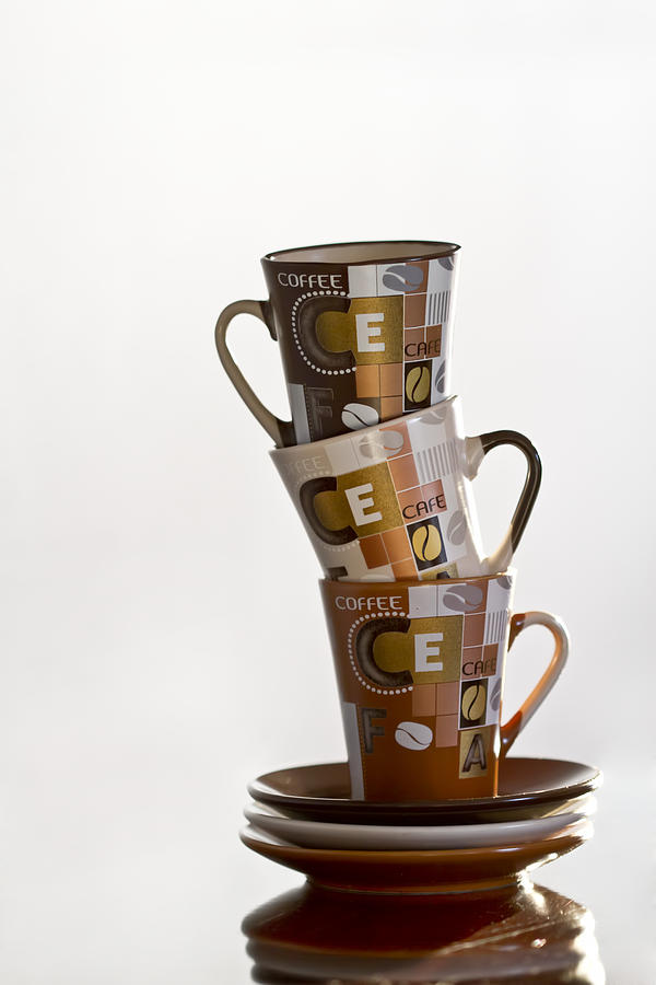 Cup Photograph - Stack Them Up by Evelina Kremsdorf