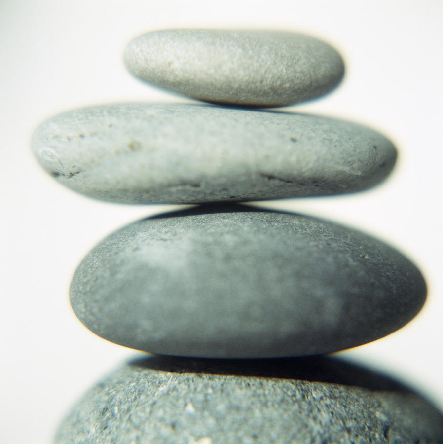 Pebbles Photograph - Stacked Pebbles by Cristina Pedrazzini
