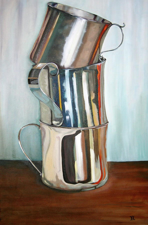 Still Life Painting - Stacking Them Up by Amy Higgins