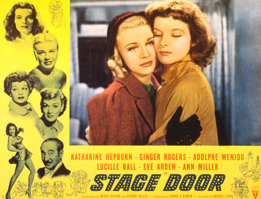 1930s Movies Photograph - Stage Door, Ginger Rogers, Katharine by Everett