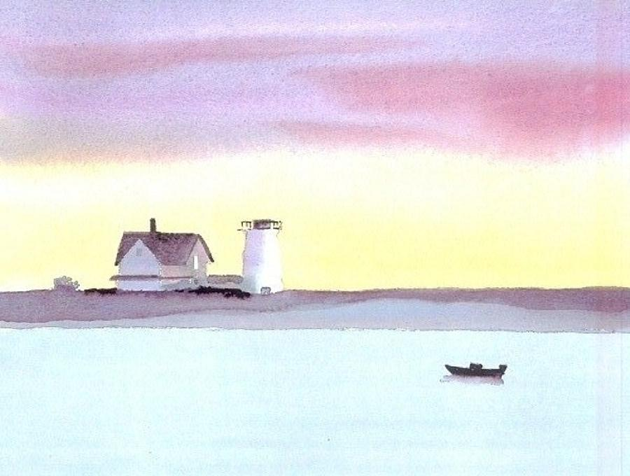 Chatham Painting - Stage Harbor by Joseph Gallant