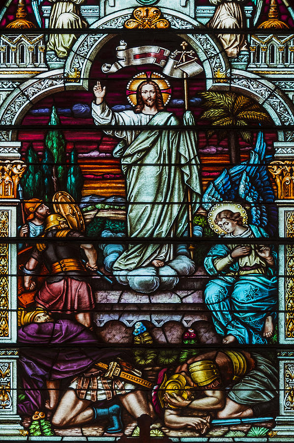 Jesus Photograph - Stained Glass Jesus by Anthony Citro