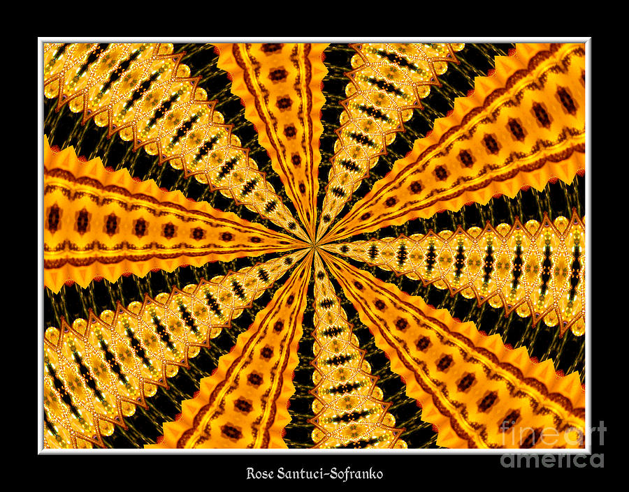 Stained Glass Window Photograph - Stained Glass Kaleidoscope 37 by Rose Santuci-Sofranko
