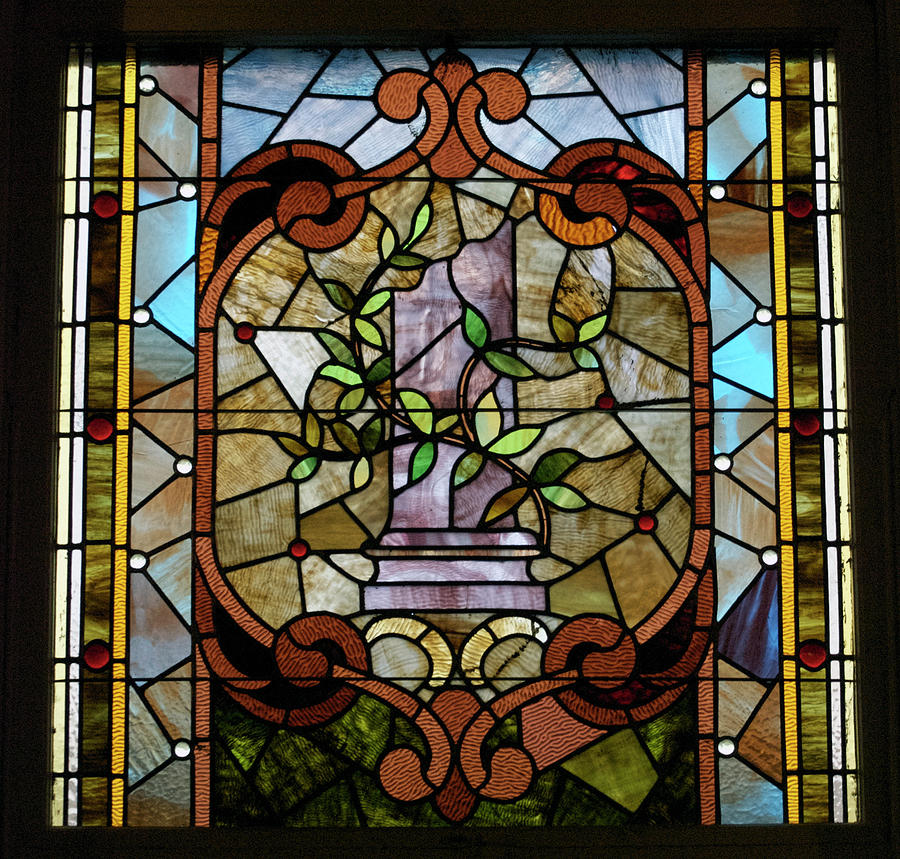 Stained Glass Photograph - Stained Glass Lc 12 by Thomas Woolworth