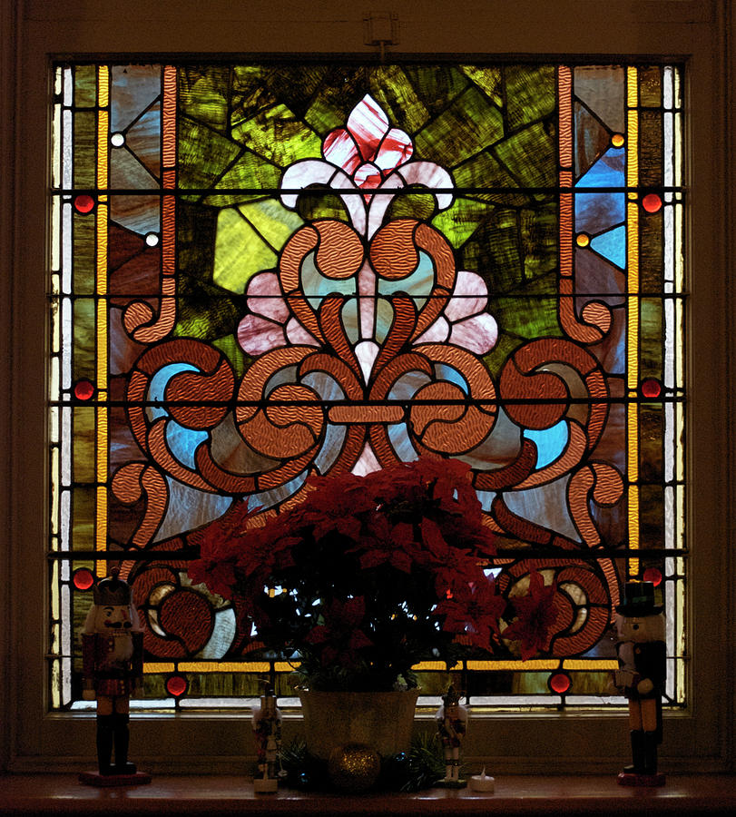 Stained Glass Photograph - Stained Glass Lc 17 by Thomas Woolworth