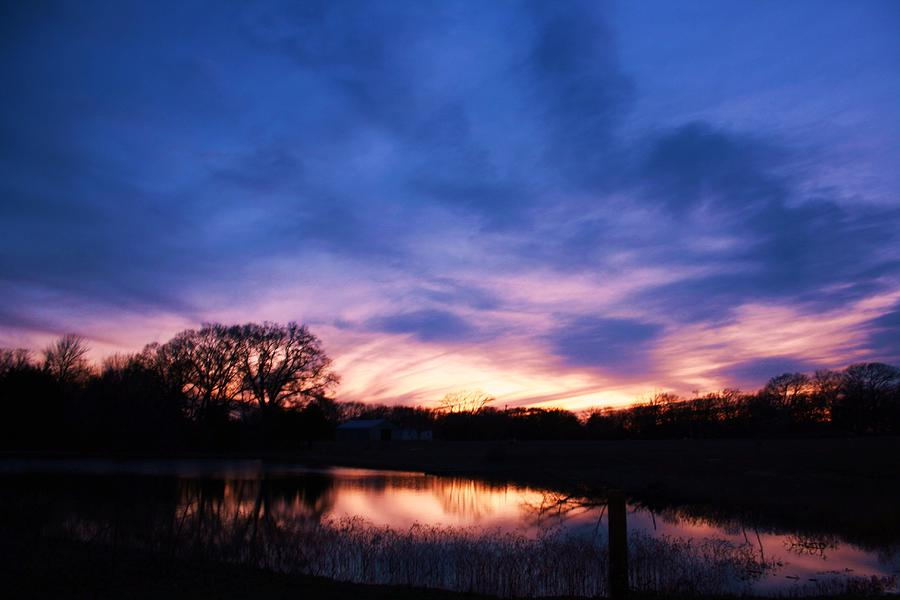 Sunset Photograph - Stained Glass Sunset by Lorri Crossno