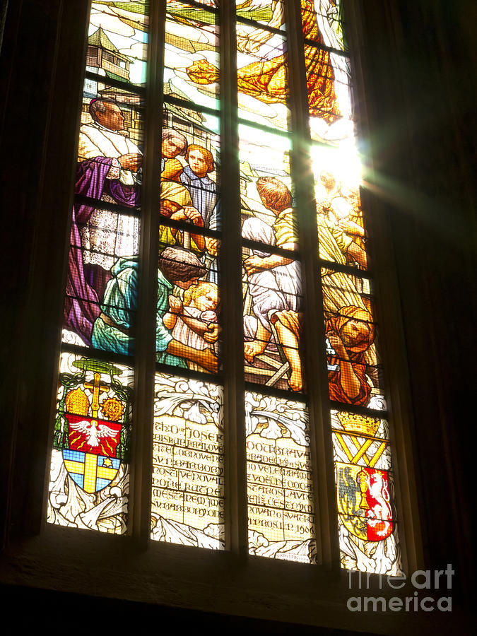 Stained-glass Window Photograph - Stained Glass Window by Michal Boubin