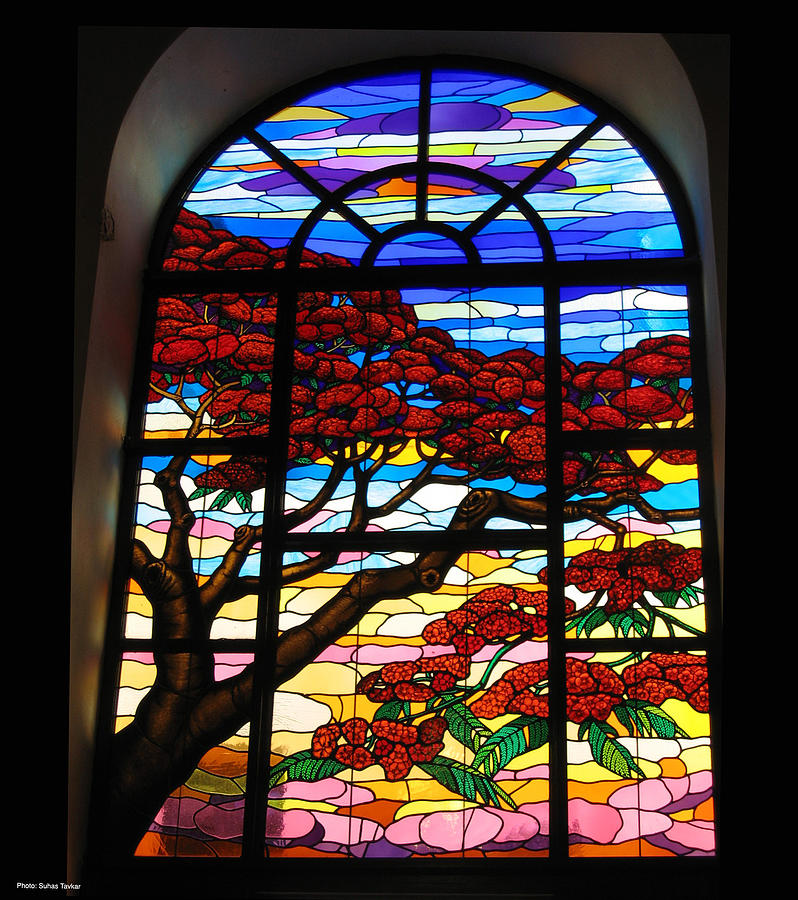 Leaded Glass Windows : Stained glass window photograph by suhas tavkar