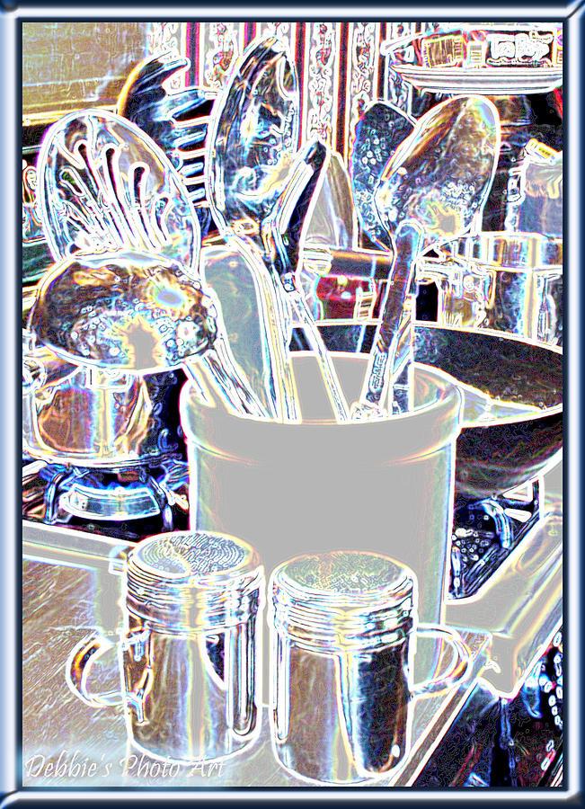 Still Life Digital Art - Stainless Steel  by Debbie Portwood