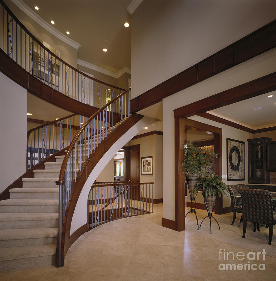 Staircase In Modern Home Photograph By Robert Pisano