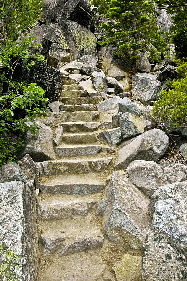 Trail Photograph - Staircase To Eagle Falls Lake Tahoe by LeeAnn McLaneGoetz McLaneGoetzStudioLLCcom