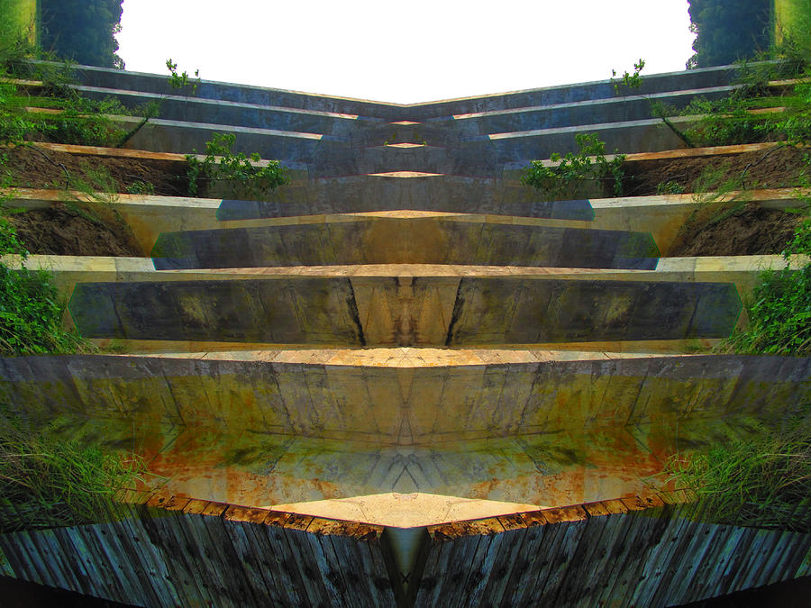 Color Blends Photograph - Stairs by Michele Caporaso